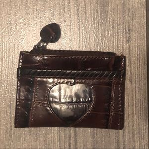 Brighton brow leather card case